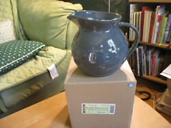 Longaberger Pottery Large Pewter Woven Traditions 2 Quart Qt Ball Pitcher