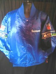 Seattle Seahawks Nfl Menand039s Quilt Lined Front Snap Starter Jacket 3x
