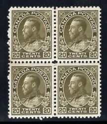 1925 Canada. Uni/sc119. Sg213. Mint Lightly/never Hinged Vf. Block Of 4