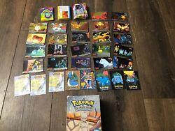 Huge Lot 1998 Topps Pokemon The First Movie Booster Box Blue Label Holos Cards
