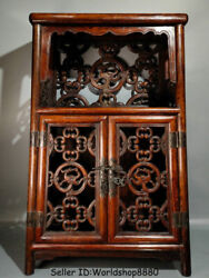 30 Old China Huanghuali Wood Dynasty Dragon Cupboard Cabinet Antique Furniture