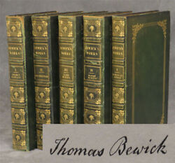 Works Of Thomas Bewick In 5 Volumes Volume 1 Signed By Bewick Select Fables