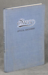 The Standard Optical Company / Optical Machinery For Optical Rx Work Catalog H