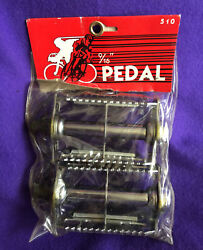 9/16andrdquo Nos Vintage 1980s Vp Victor Pedal Chrome Counter Balance Rat Trap 10-speed