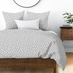 And White Dot Dotted Nursery Decor Dots Polka Sateen Duvet Cover By Roostery