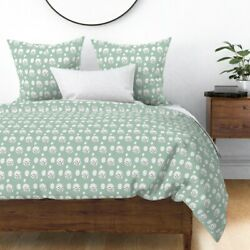 Watercolor Mint Abstract Dot Dotted Egg Nursery Sateen Duvet Cover By Roostery