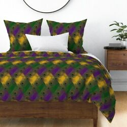 Mardi Gras Carnival Carnivale Fat Tuesday Bal Sateen Duvet Cover By Roostery