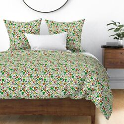 Food Fruit Vegetables Market Kitchen Cooking Sateen Duvet Cover By Roostery