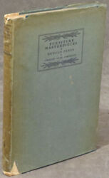 Charles Over Cornelius / Furniture Masterpieces Of Duncan Phyfe 1st Edition 1922