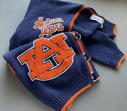 Vintage Embroidered Auburn Tigers Cardigan With Patches, Au, Auburn University
