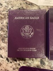 1987-s Ase Proof American Silver Eagle 1oz One Ounce With Ogp And Coa