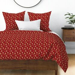 Christmas Autumn Nature Pine Tree Pinecone Sateen Duvet Cover By Roostery