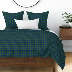 California State Tartan Sateen Duvet Cover By Roostery