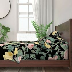 Floral Victorian English Shabby Chic 100 Cotton Sateen Sheet Set By Roostery