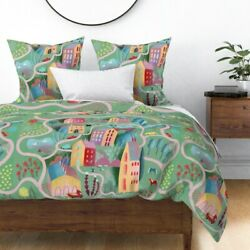 Scenery Landscape Farm Kids Playmat Swans Lake Sateen Duvet Cover By Roostery