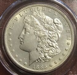 1885-s Morgan Silver Dollar, Pcgs Graded Genuine Cleaned