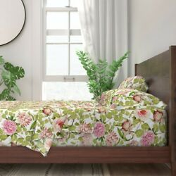 Redoute Roses Cottage Chic English 100 Cotton Sateen Sheet Set By Roostery