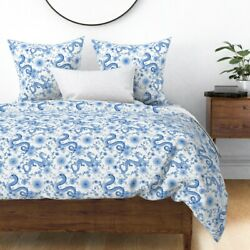 Chinoiserie Challenge Chinese Hand Painted Ink Sateen Duvet Cover By Roostery