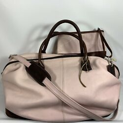 Latico Womens Weekender Duffle Bag With Clutch Pink