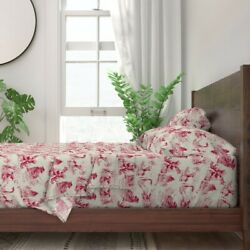 Toile Vintage Landscape And Village 100 Cotton Sateen Sheet Set By Roostery