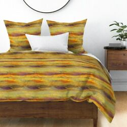 Flowing Landscape Hi Mountain Hill Flow Wave Sateen Duvet Cover By Roostery