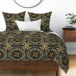 African Art Boho Geometric Museum Memphis Brooks Sateen Duvet Cover By Roostery