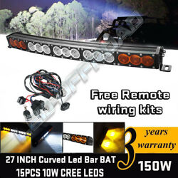 27 Inch 150w Cree Led Light Bar Spot Flood Combo Work Lamp Offroad Truck 4wd 30
