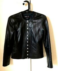 Cardigan Cuir Agnes B Taille S Leather Cardigan