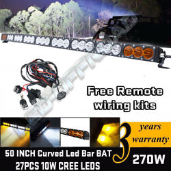 50 Inch 270w Cree Led Light Bar Combo Beam Offroad Driving Lamps 4x4wd Truck Suv