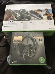 Microsoft Xbox One S 1tb Bundle Console And Headset, 2 Piece,brand New Free Sh