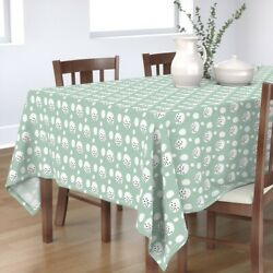 Tablecloth Watercolor Mint Abstract Dot Dotted Egg Nursery Decor Cotton Sateen