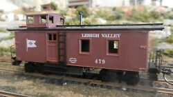 Roundhouse Mdc Ho Old Time Side Door Caboose Lehigh Valley Upgraded Exc.
