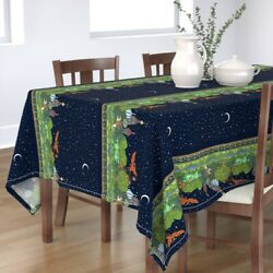 Tablecloth Russian Small Firebird Phoenix Palace Night Animals Cotton Sateen