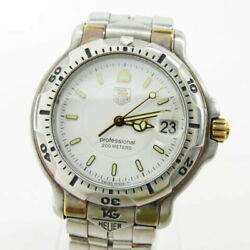 Tag Heuer K18 Combination Wh1151 Used Watch Silver