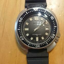 Seiko Second Diver 6105-8000 Menand039s Analog Watch Used