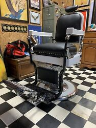 1920andrsquos Antique Koken Barber Chair Complete Restoration. Fully Functional