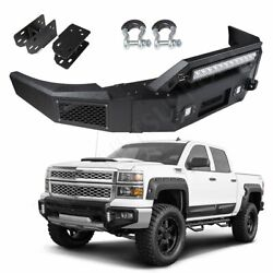 For 07-10 Silverado 1500 Sierra 1500 Front Bumper Black Complete Assembly Pickup