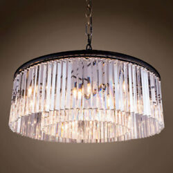 Gatsby Luminaires 701810-001 Clear Crystal Prism 10 Light 43.5 Grey Iron