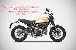 Exhaust Conical Zard Stainless Steel A Spicchi Racing Ducati Scrambler 800