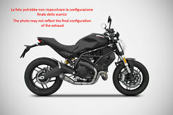 Exhaust Conical Zard Stainless Steel Racing Ducati Monster 797 2017 - 19