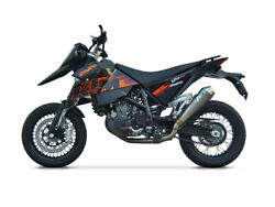 Exhaust Conical Zard Steel-carb Ceramic Approved Ktm 690 Sm 2006-08