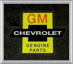 Chevrolet Bowtie Genuine Parts Chevy Decal Gm Red Large N/ Nos