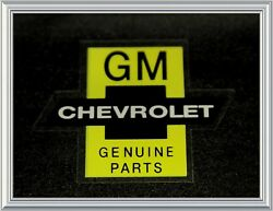 Chevrolet Bowtie Genuine Parts Chevy Decal Gm Black Large N/ Nos