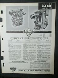 1957 Red Horse Clinton Engines Parts List Catalog A-2500-1000 Reference Manual