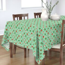 Tablecloth Atomic Vintage Retro Christmas Ornaments Holiday Cotton Sateen