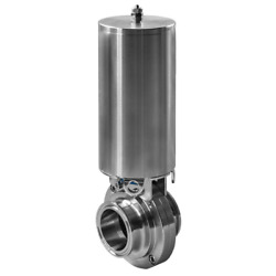 Steel And Oand039brien Bfvaw-1.5-da-316-viton 1-1/2 Butterfly Valve Actuated/weld