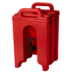 Cambro 100lcd158 Camtainer 1 Gallon Capacity Hot Red