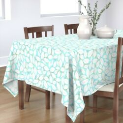 Tablecloth Seashell Shells Florida Beach Coastal Ocean Marine Sea Cotton Sateen