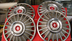 Set Of 4 1967 Ford Mustang Hubcaps 14'' Coupe Convertible Fastback