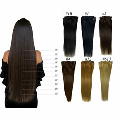 Machine Made Remy Hair Clip In Hair Extensions 100 Real Human Hair 7pc/set 100g